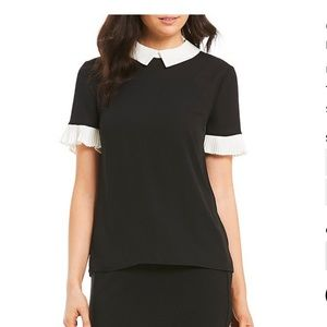CeCe Tops - Cece Peter Pan pleated sleeve blouse